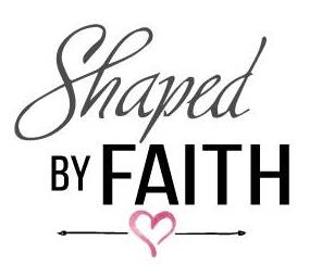 Shaped by FAITH LOGO with heart